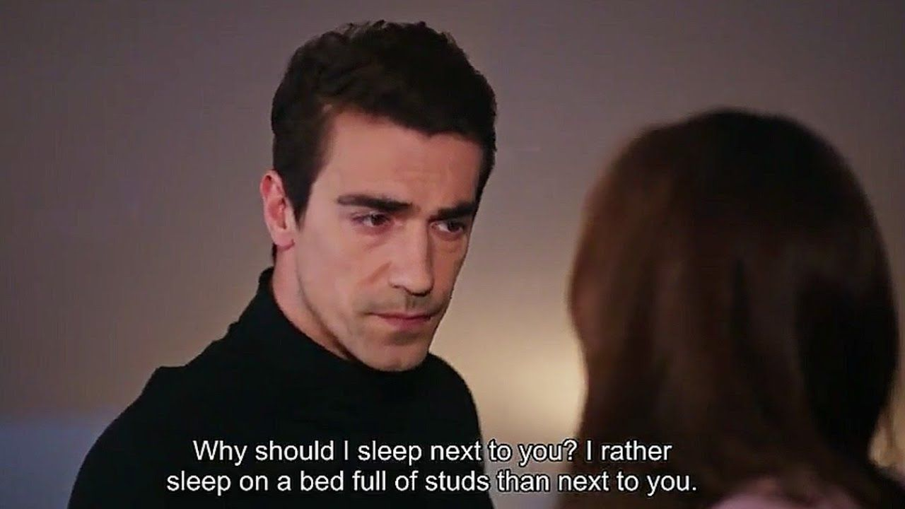 Asli Ferhat Arguing Who Sleep In Bed Eng Sub Black White Love Youtube Black And White Love Black And White Sleeping In Bed