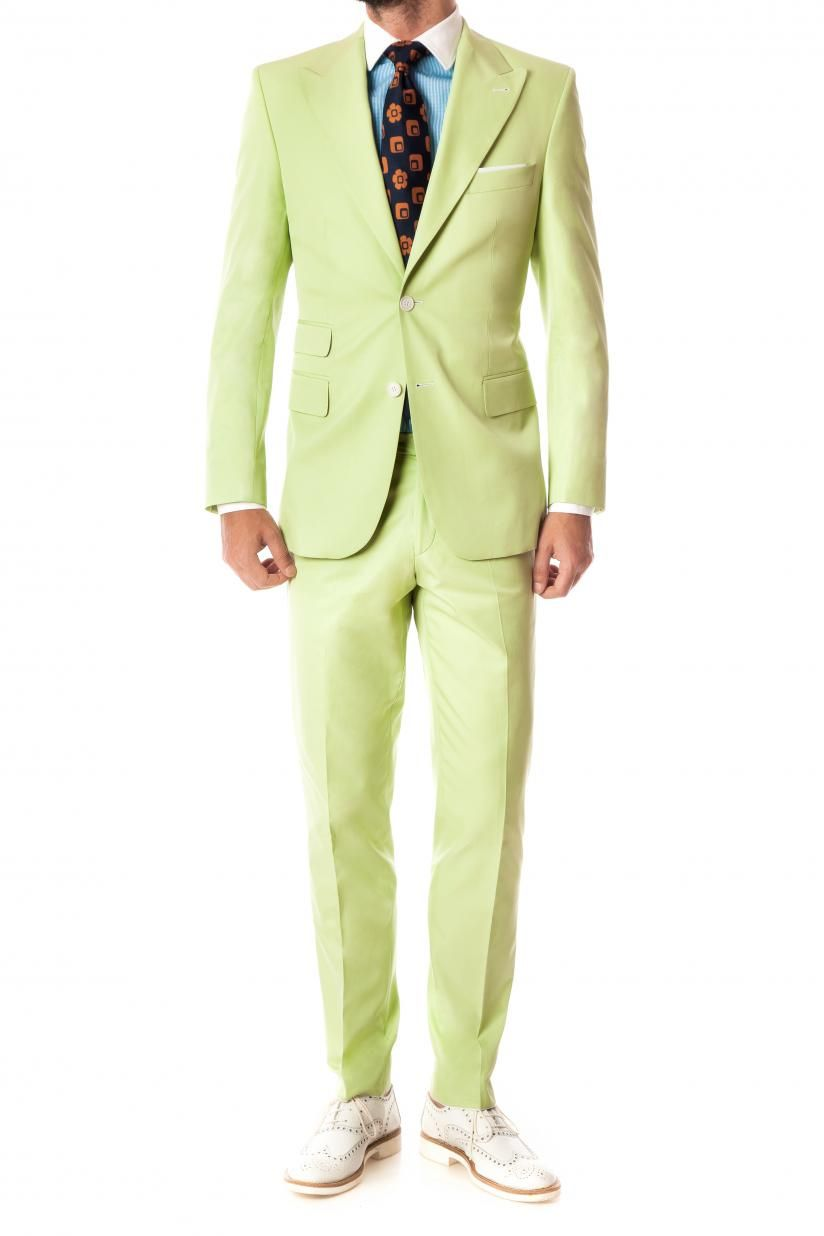 Lime green suit | Amazing bridal | Pinterest | Green suit