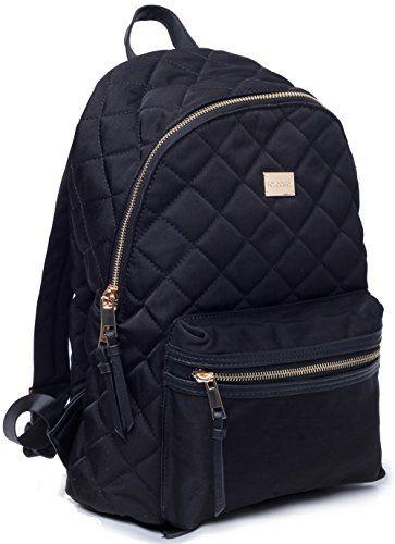 Woman Backpack TOYOOSKY Black Casual School Backpack Purse Daypack ... : black quilted rucksack - Adamdwight.com