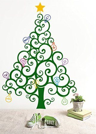 PopDecors - Christmas Tree with Colorful Bulbs - Custom Beautiful