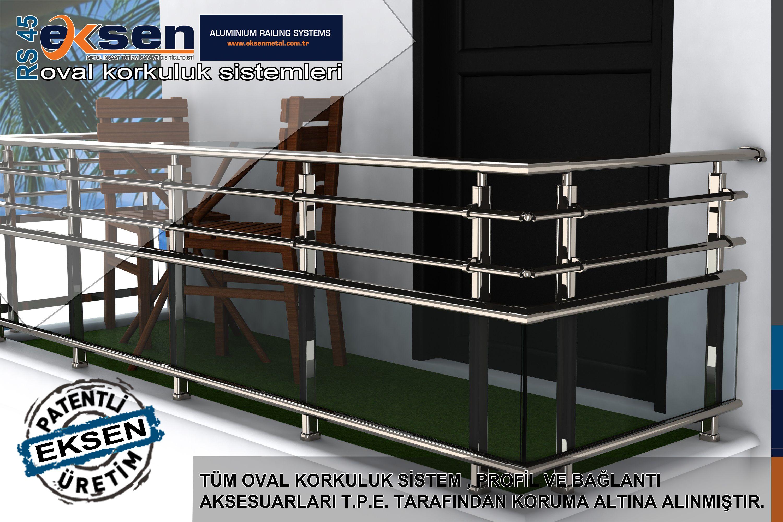 Rs45 Elliptic Railing System Eksen Metal Design