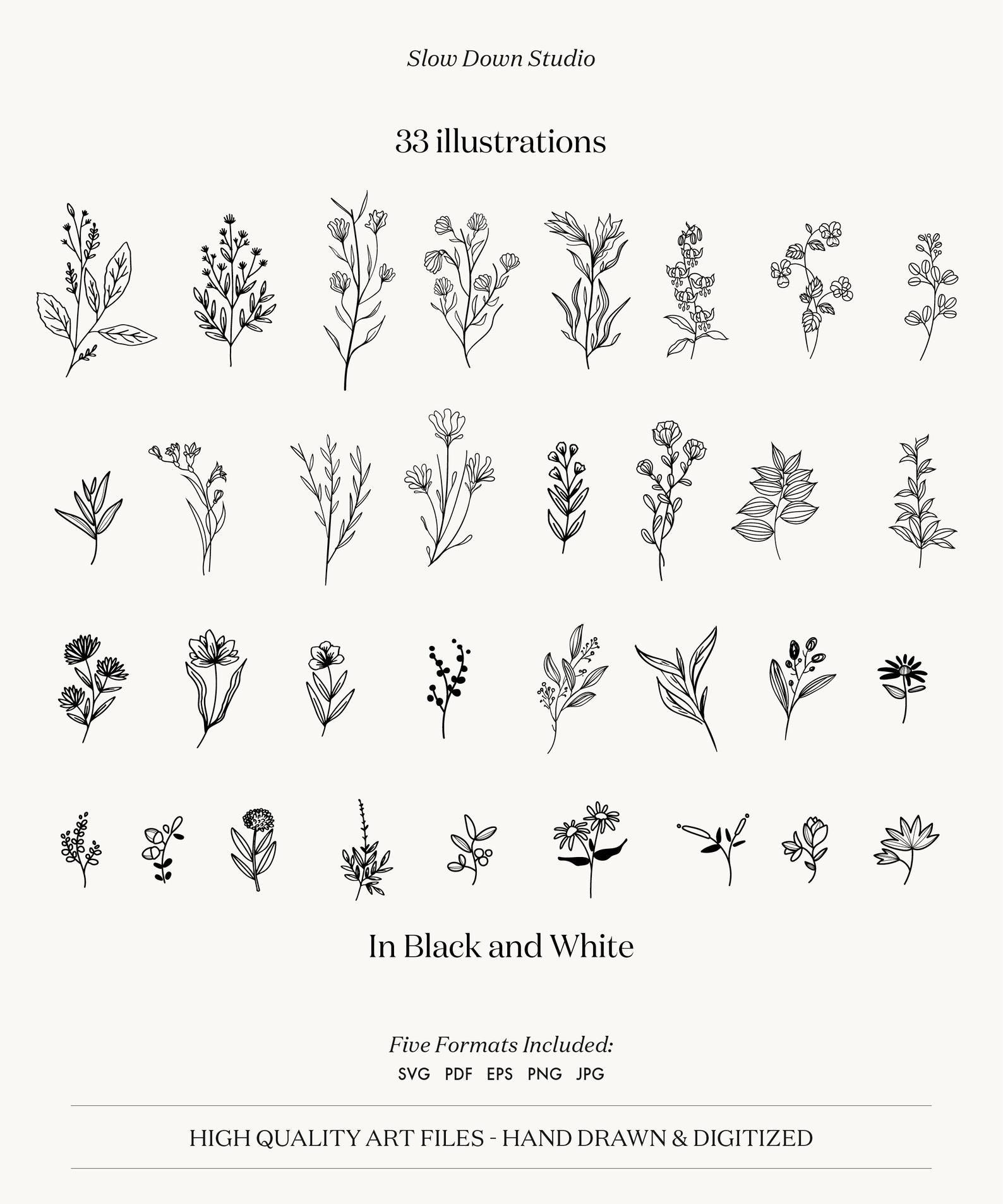 png jpeg SVG Branch with Flower Clipart * Leaves * Instant Digital Download * svg eps