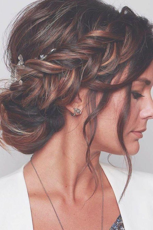 wedding hairstyles 20 elegant royal bun with side braid and ...