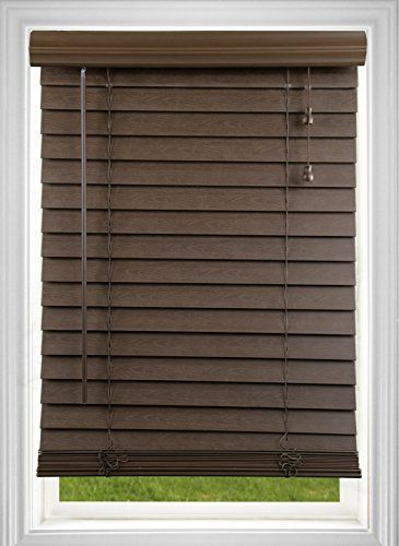 Corded 2 Inch Faux Wood Blind Dark Oak 445w X 54l More Info Could Be Found At The Image Url Dark Window Treatments Faux Wood Blinds Vinyl Blinds