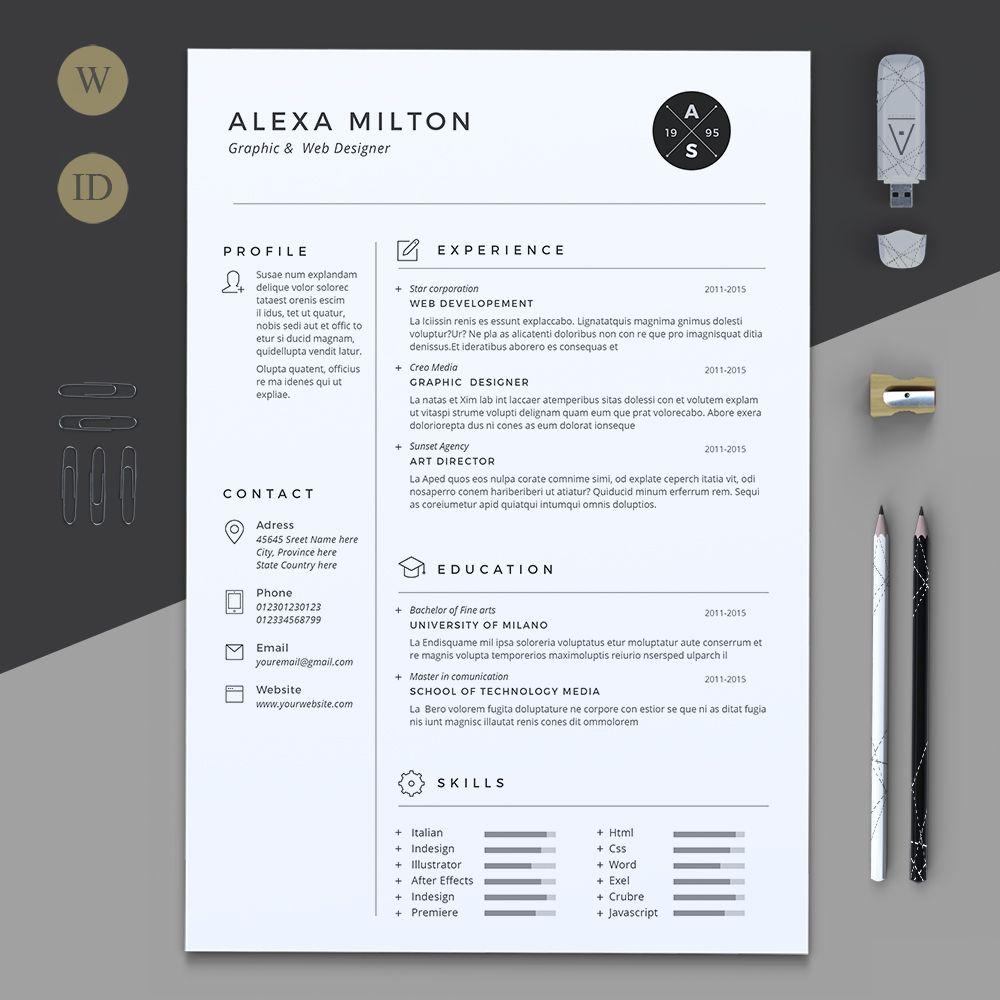 2 Pages Resume by Estartshop on creativemarket  Resume