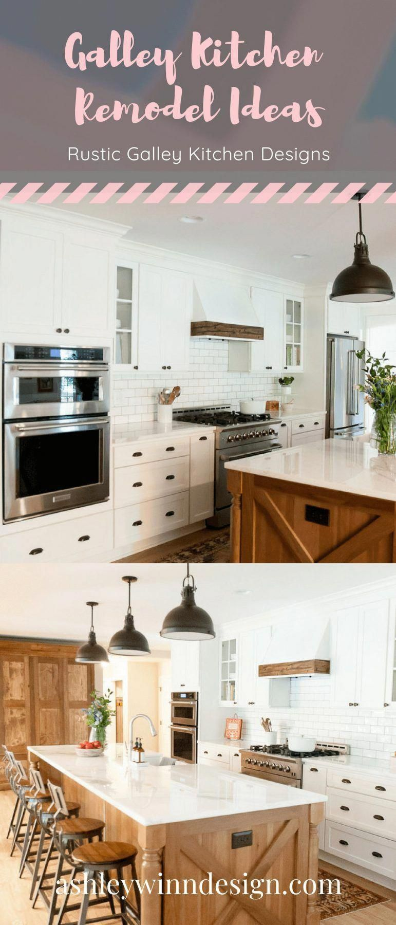 29 Awesome Galley Kitchen Remodel Ideas (A Guide to Makeover Your Kitchen) #onabudget #small #beforeandafter #fixerupper #ideas #narrow #layout #joannagaines #open #island #KitchenIdeasToDecorate #ikeagalleykitchen