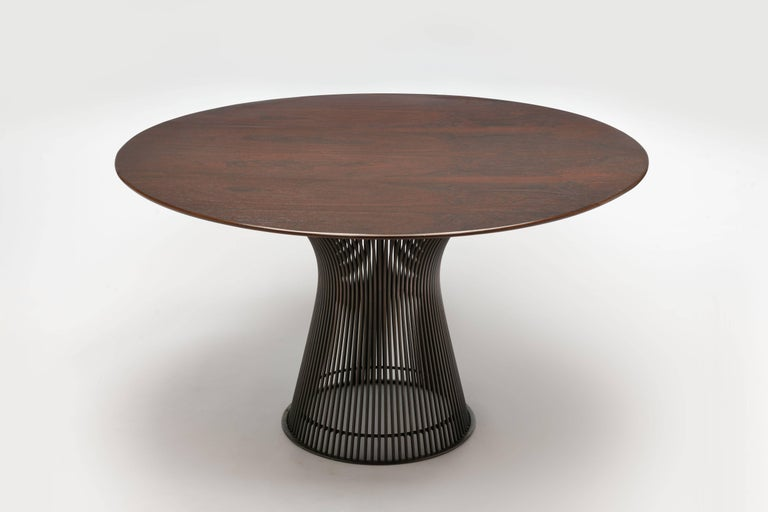 Rosewood and Bronze 1960s Warren Platner Dining Table by