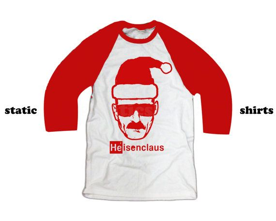 Heisenclaus | Heisenberg Santa Claus Baseball Shirt | Breaking Bad Gift | Heisenberg Shirt
