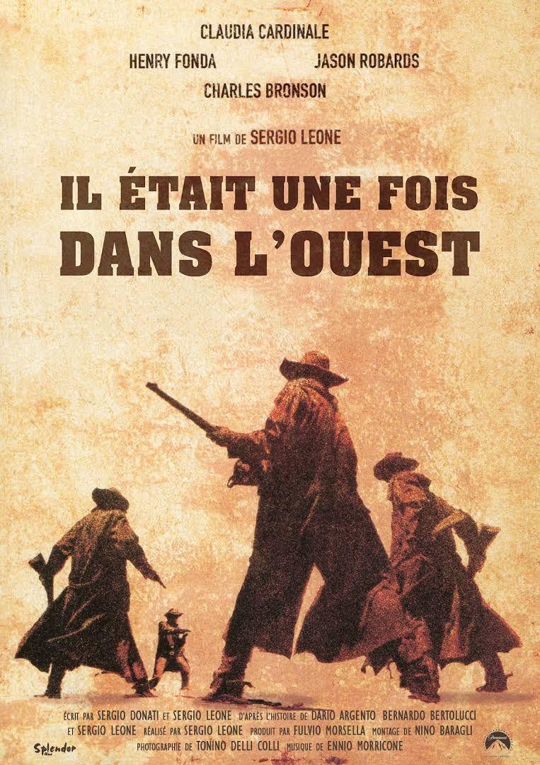 Il était une fois dans l'Ouest est un film de Sergio Leone réalisé en 1968 et sorti en France le 27 août 1969. Alors qu'il prépare une fête pour sa femme, Bet McBain est tué avec ses trois enfants. Jill McBain hérite alors des terres de son mari, terres que convoite Morton, le commanditaire du crime (celles-ci ont de la valeur maintenant que le chemin de fer doit y passer). Mais les soupçons se portent sur un aventurier, Cheyenne...