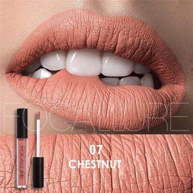 179b410759 FOCALLURE #07 CHESTNUT | Waterproof Matte Lip Gloss Liquid Lipstick  Moisturiser FOCALLURE - Hot Sexy
