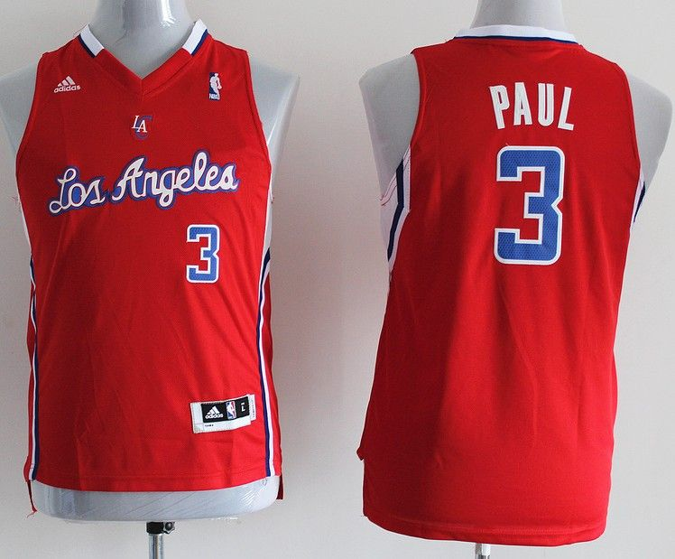 adidas nba kids los angeles clippers 3 chris paul new revolution 30 swingman red youth jersey