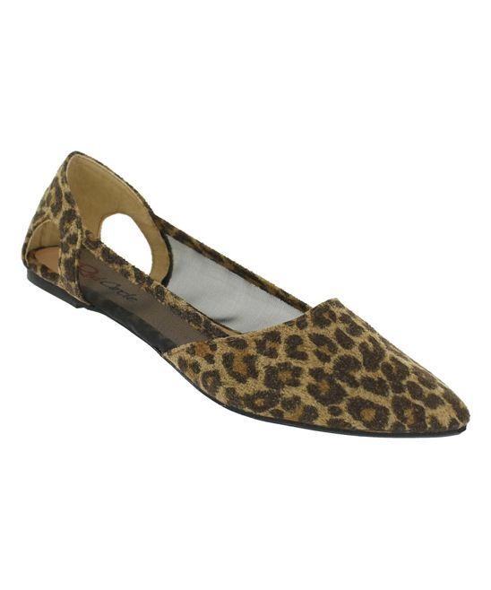 Leopard Julie Mesh Flat