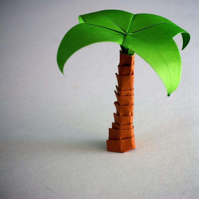 Origami Palm Tree
