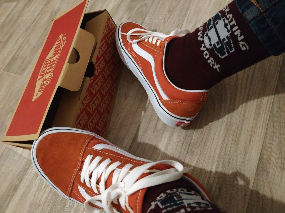 4cf93f770999 Vans Old Skool Hot sauce true white