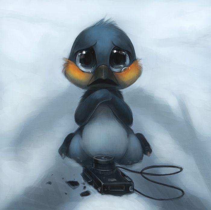 оно грустный пингвин картинка уже