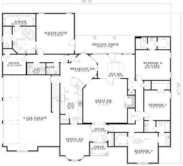 5 Bedroom 4 Bath Cottage House Plan Alp 07d5 House Floor Plans House Flooring Traditional House Plan