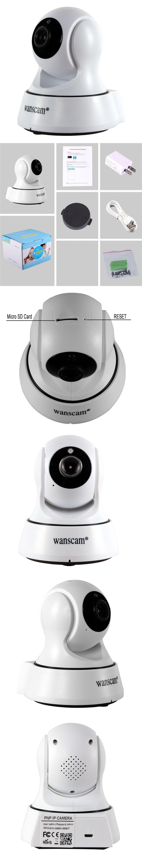 720P HD Wireless Wifi Camera IR-CUT Indoor Surveillance Security IP ...
