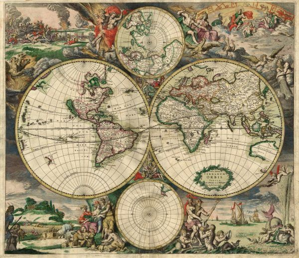 Remodelaholic 20 More Free Printable Vintage Map Images Antique World Map Ancient World Maps World Map Poster