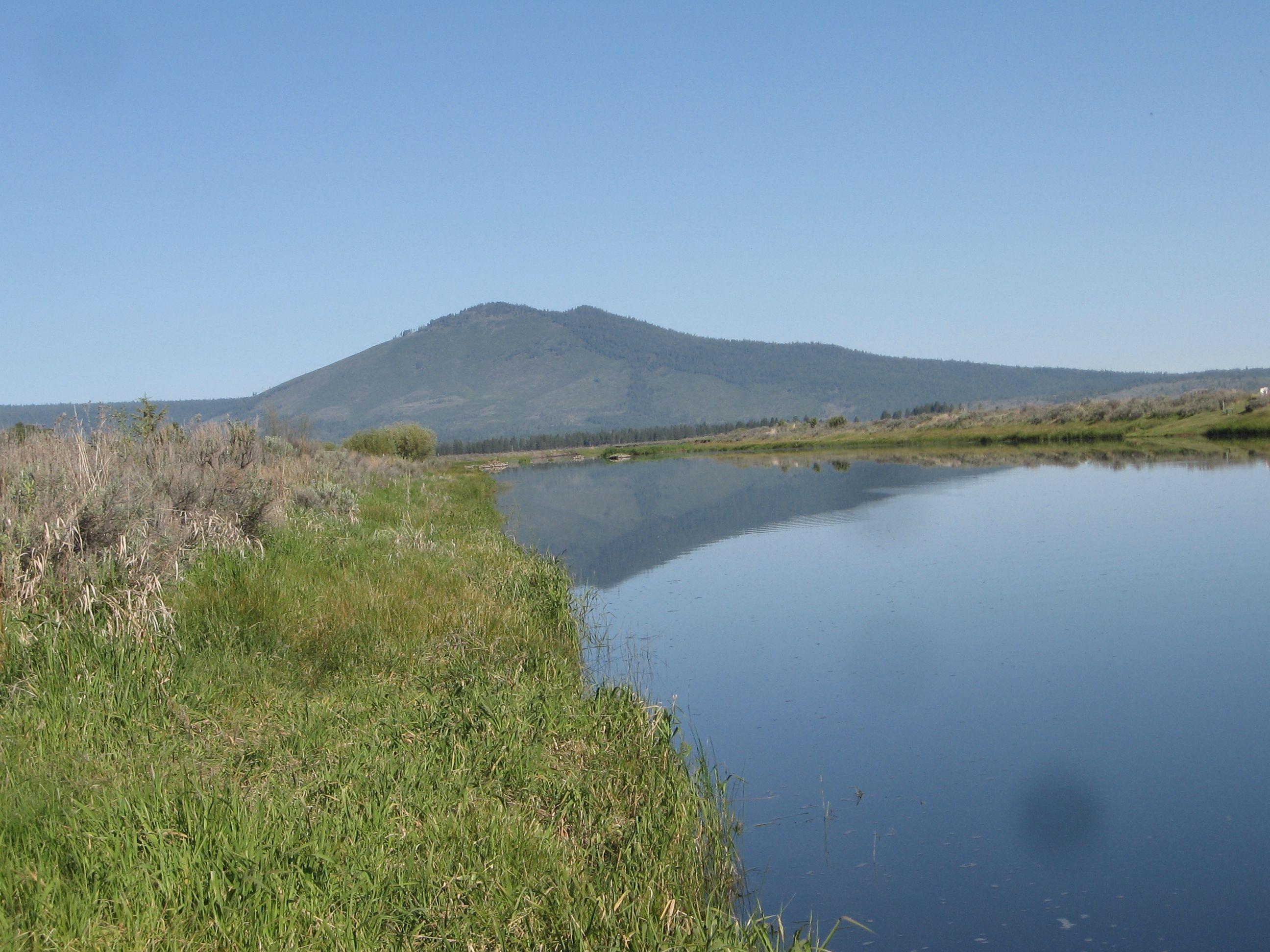Saddle Mountain from Sprague River Oregon A
