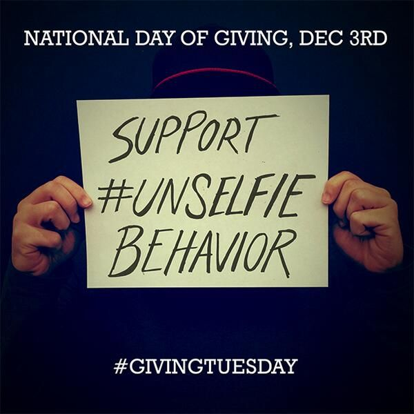 giving tuesday unselfie