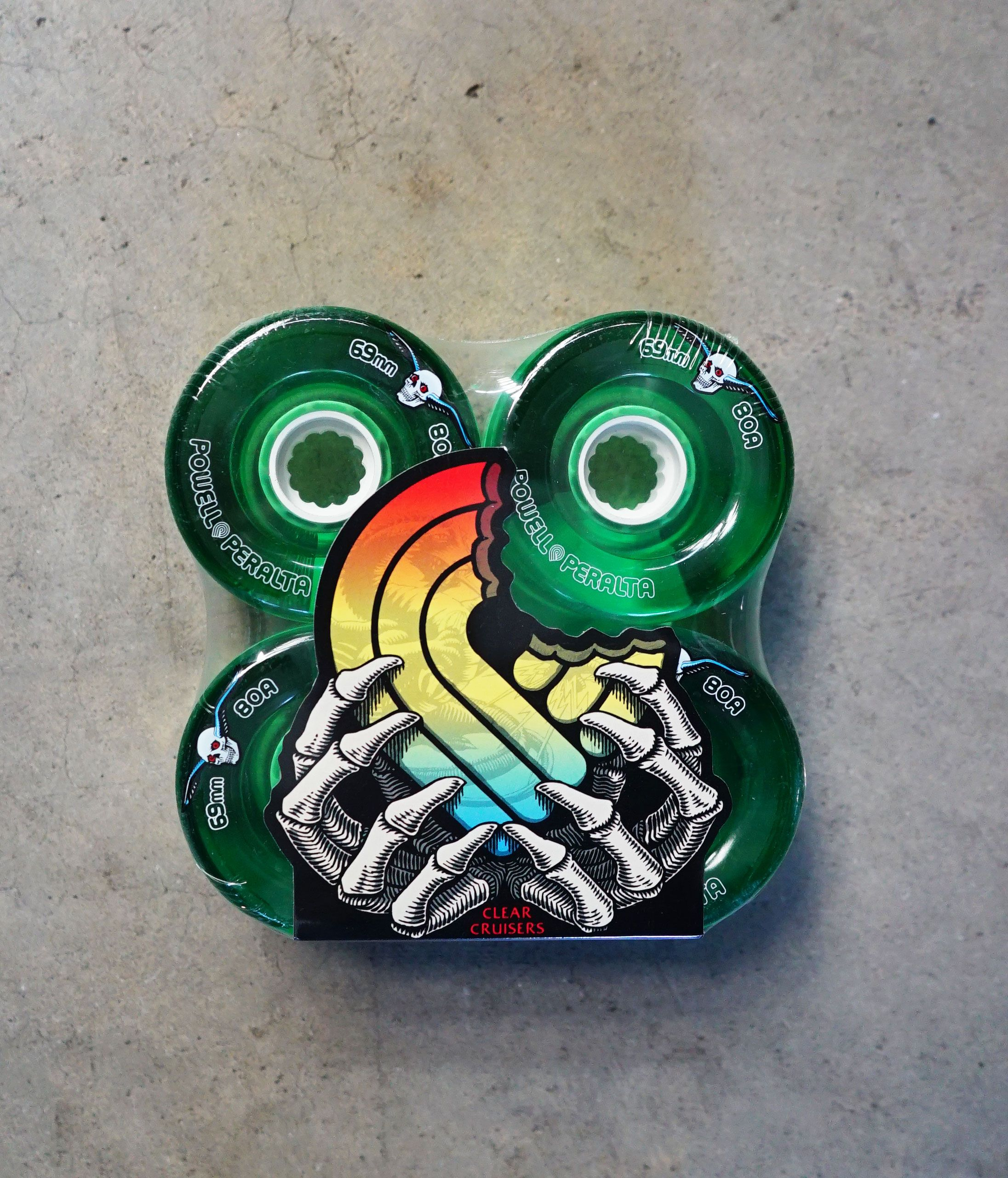 69mm 80a Clear Cruiser Atf In Green No More Falling On S Or Rocks While Pushing Down The Street These Wheels Go