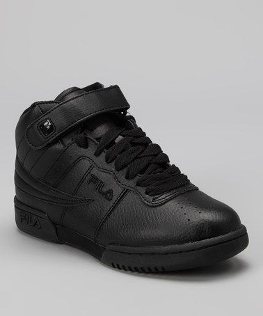 Take a look at this Triple Black Smooth F13 Hi-Top Sneaker by FILA on