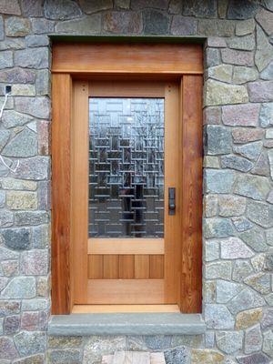 Cedar Door With Custom Glass Insert Doors Pinterest Doors