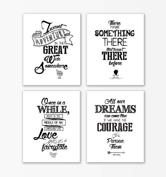 Wedding Quotes Disney Beauty And The Beast Nursery Print Quotes