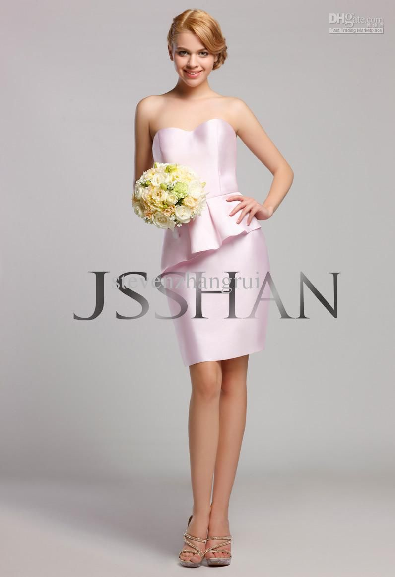 2013 new style strapless pleated peplum twill satin wedding party 2013 new style strapless pleated peplum twill satin wedding party bridesmaid dresses ombrellifo Images