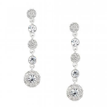Jon Richard Pave Crystal Clara Drop Earring Code Jrer029496 Free Uk Delivery When You Spend 40 00 15 00 Delivery Earrings Women S Earrings Bridal Earrings