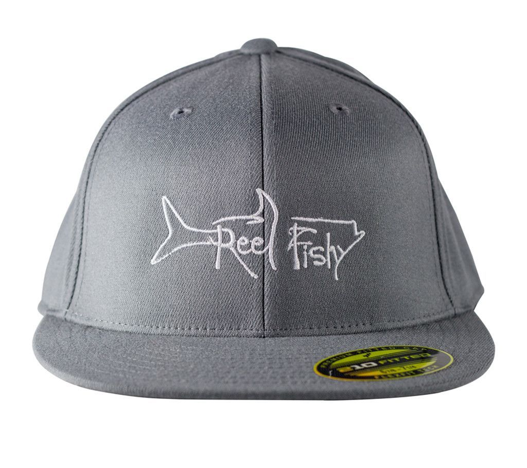 Reel Fishy FlexFit Premium Fitted Flat Visor Structured Tarpon 11811edffc55