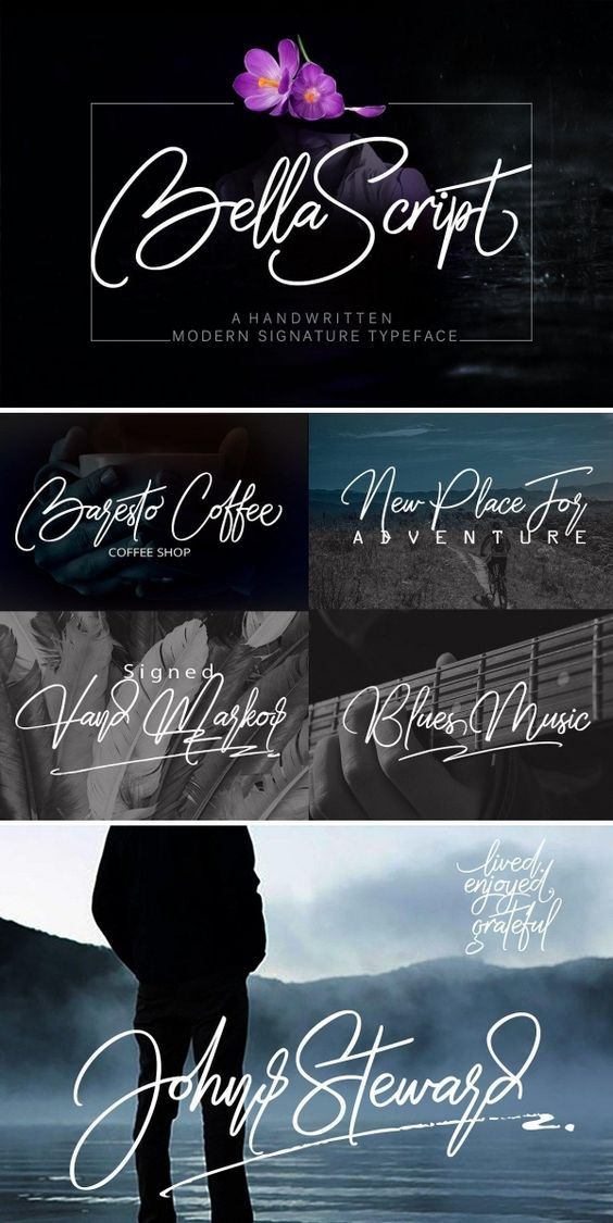 Bella Script is a original handwritten typeface, inspiration from writings everyday. perfect for your next design, such as logos, signature, printed quotes, handwritten quotes, invitations, cards, product packaging, merchandise, social media & greeting cards, headline magazine, headers and anything else about your imagination.  font  typeface  typegang  typespire  typematters  type  fontdesign  typography  graphicdesign  typographyinspire  script  handmadefont  creativemarket