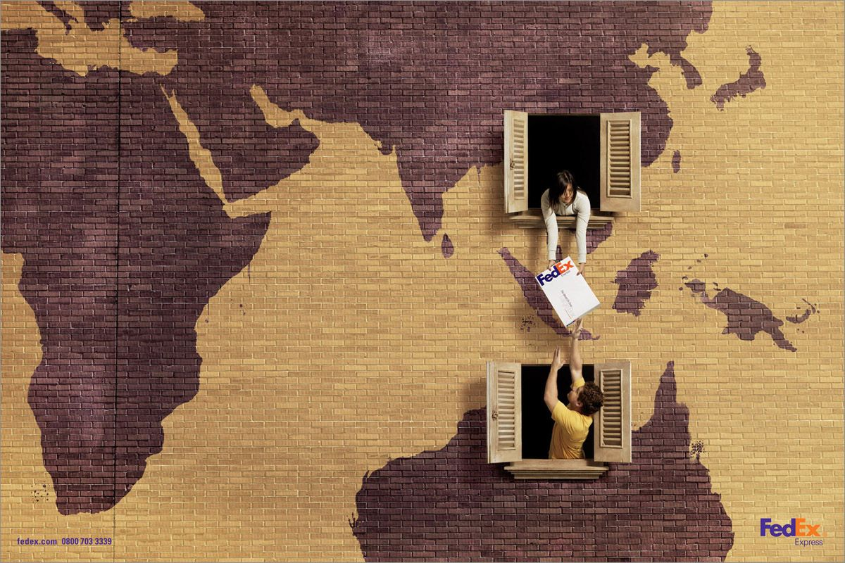 Fedex China Australia Ad Campaign Creative Advertising Campaign Creative Advertising Clever Advertising