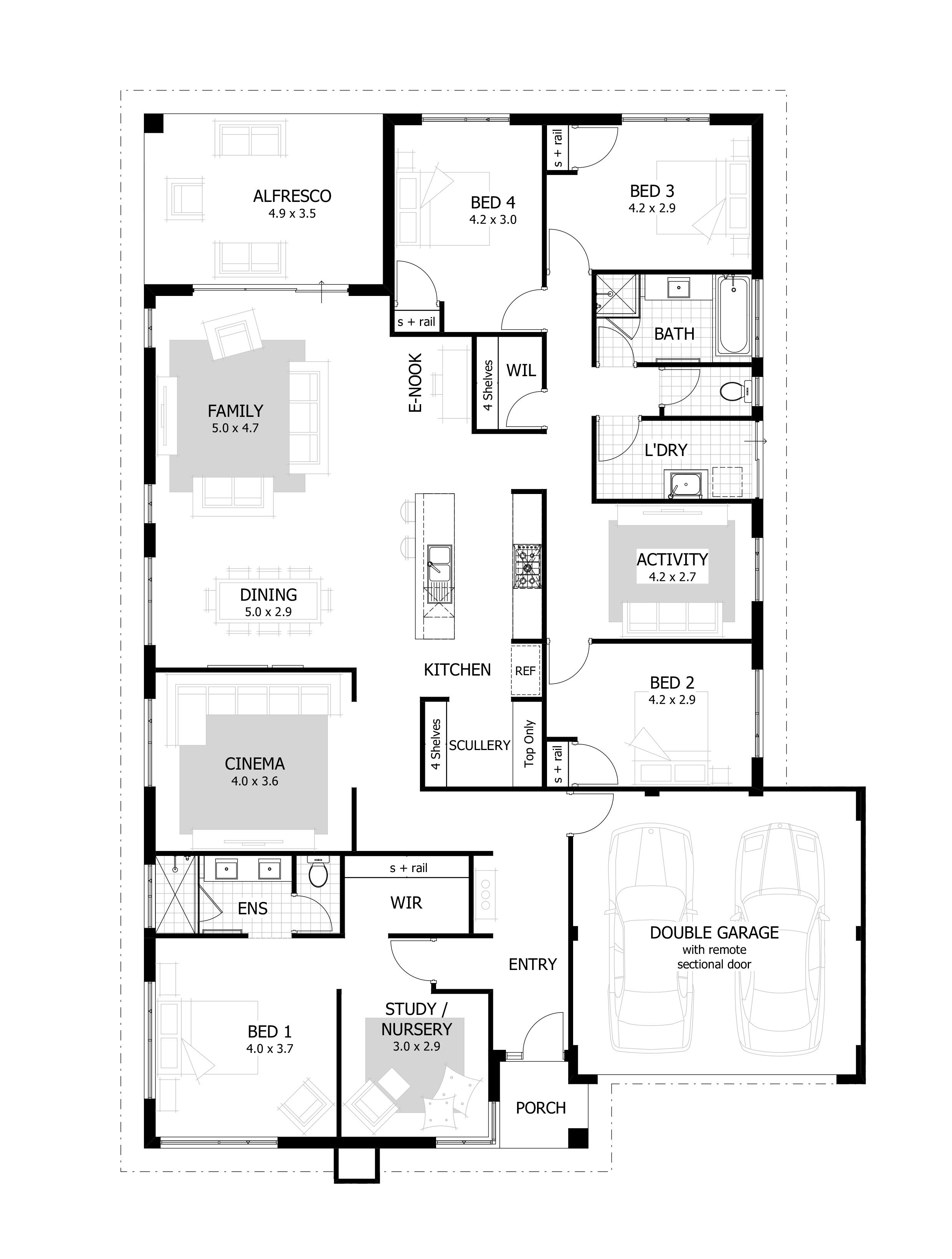 4 Bedroom House Plans Home Designs Celebration Homes 4