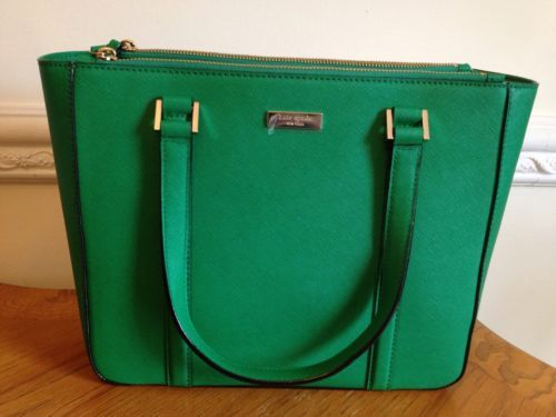 Kate Spade Green Handbag Newbury Lane Cadene
