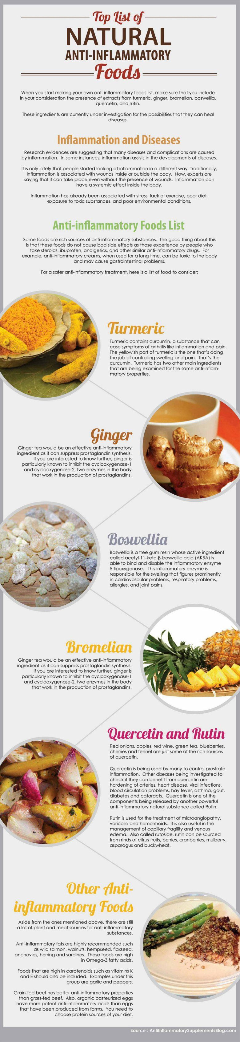 anti-inflammatory-foods-list | reiki & holistic health | pinterest