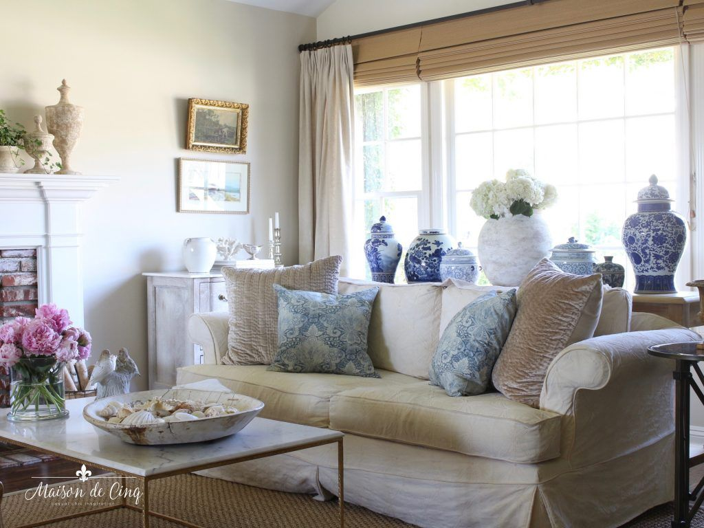 French Farmhouse Summer Decorating Ideas Living Dining Room