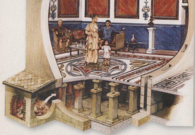 suelo radiante romano