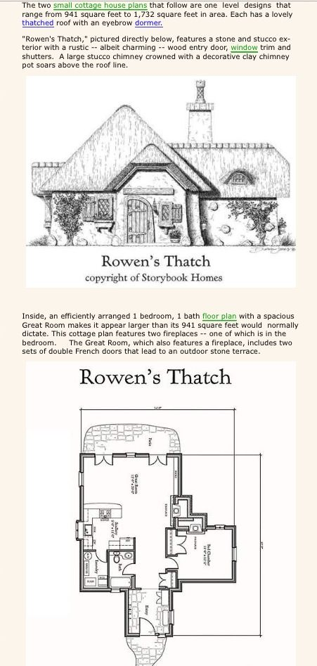 Rowena S Thatch Cottage Small Cottage House Plans Thatched House House Plans