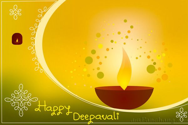 Diwali Greeting Card Diwali Twin Lamps Green Diwali Greeting Cards Diwali Greetings Greetings