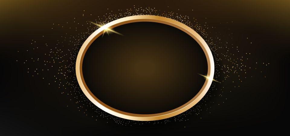 دائرة الذهب البريق خلفية سوداء Black Backgrounds Gold Sparkle Background