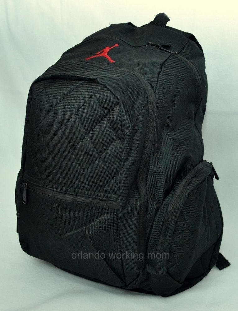6786e9811c792e Nike Air Jordan Backpack Jumpman Black school book bag basketball men women  girl  Nike  Backpack  Jordan  OrlandoTrend