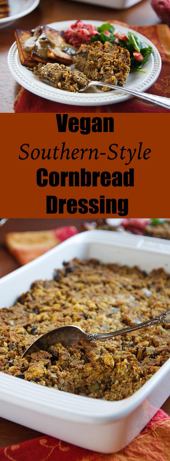 Vegan Southern-Style Cornbread Dressing | FatFree Vegan Kitchen