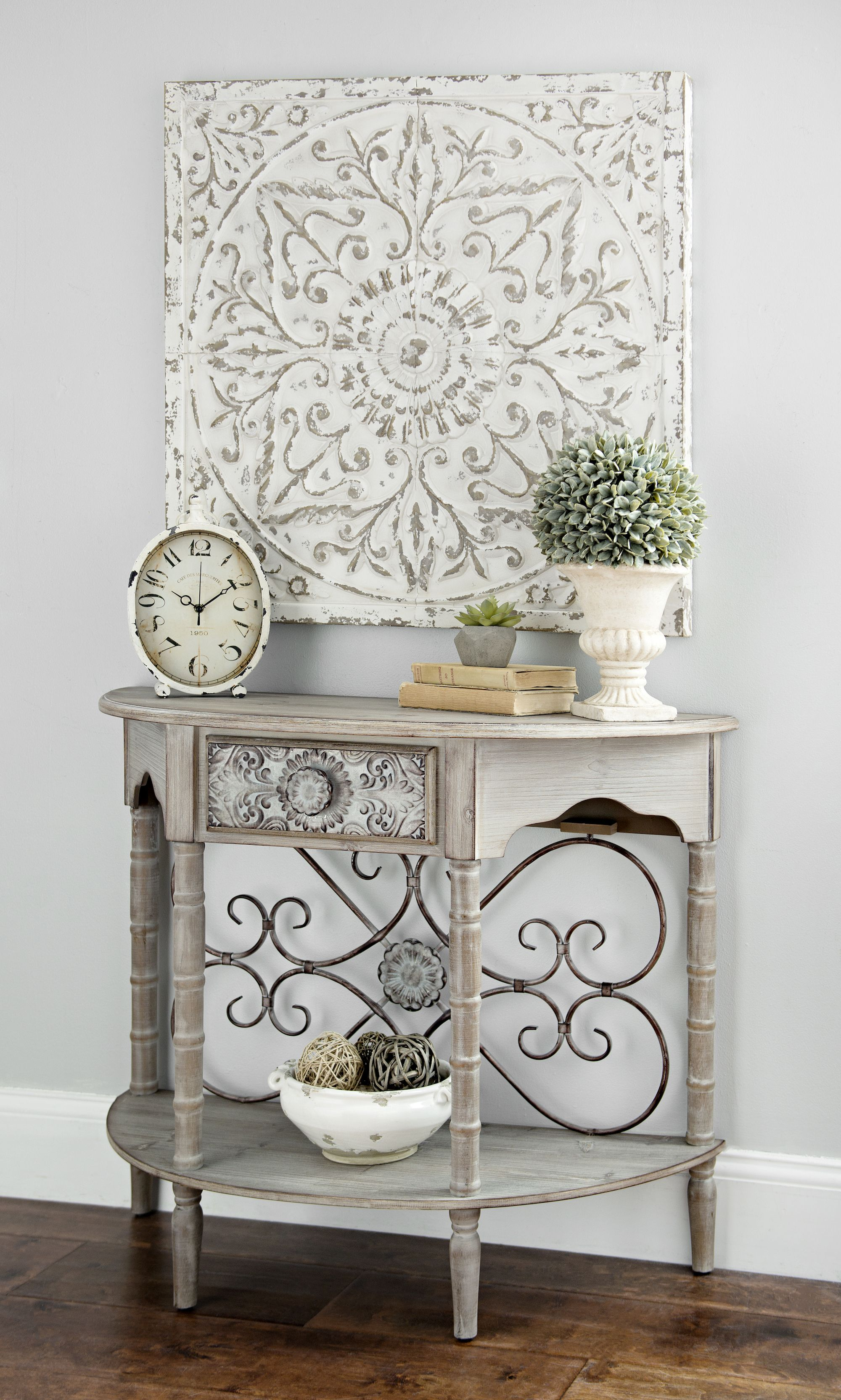 superb Square Metal Wall Decor Part - 17: Add antique charm to your modern home with the u0027Galvanized Square Medallion Metal  Wall Plaqueu0027 from Kirklandu0027s. Shop this look today and upgrade your decor  ...