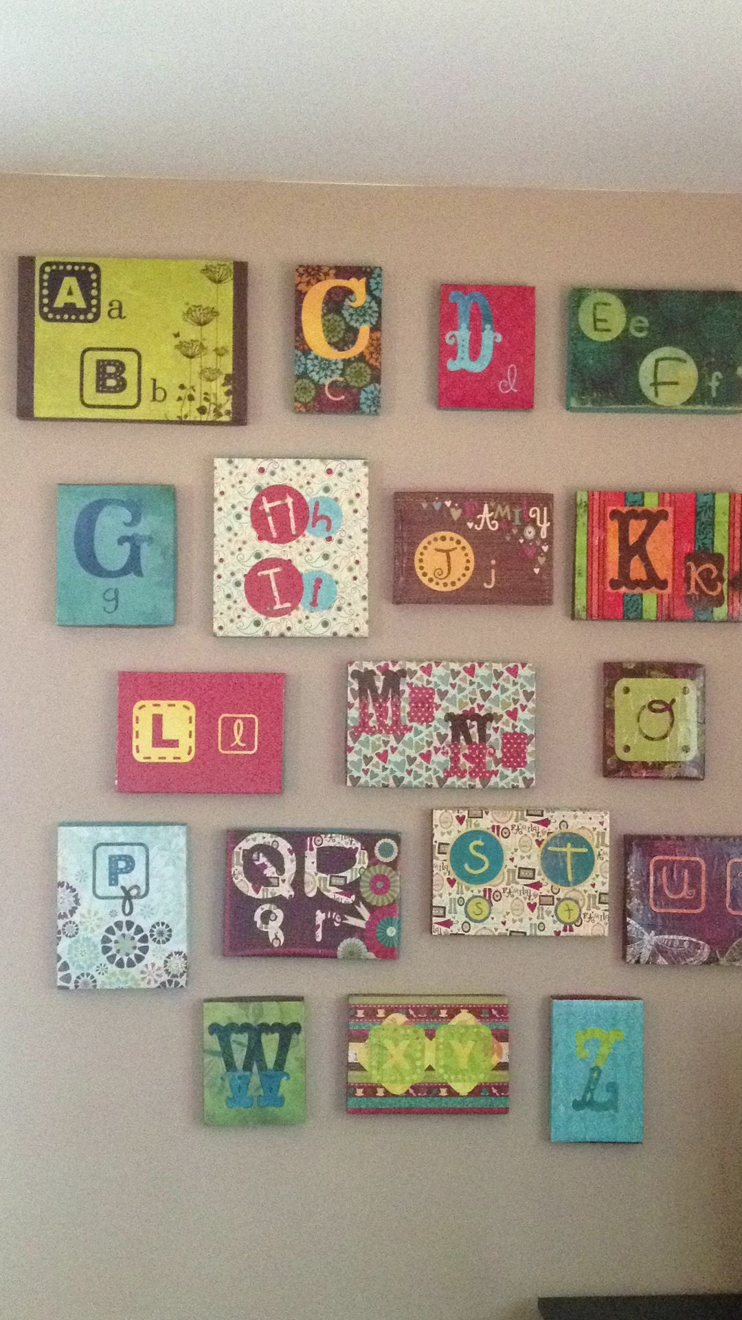Shoebox Bedroom Abc Wall In Our Playroom Homeschool Room Made With Shoe Box