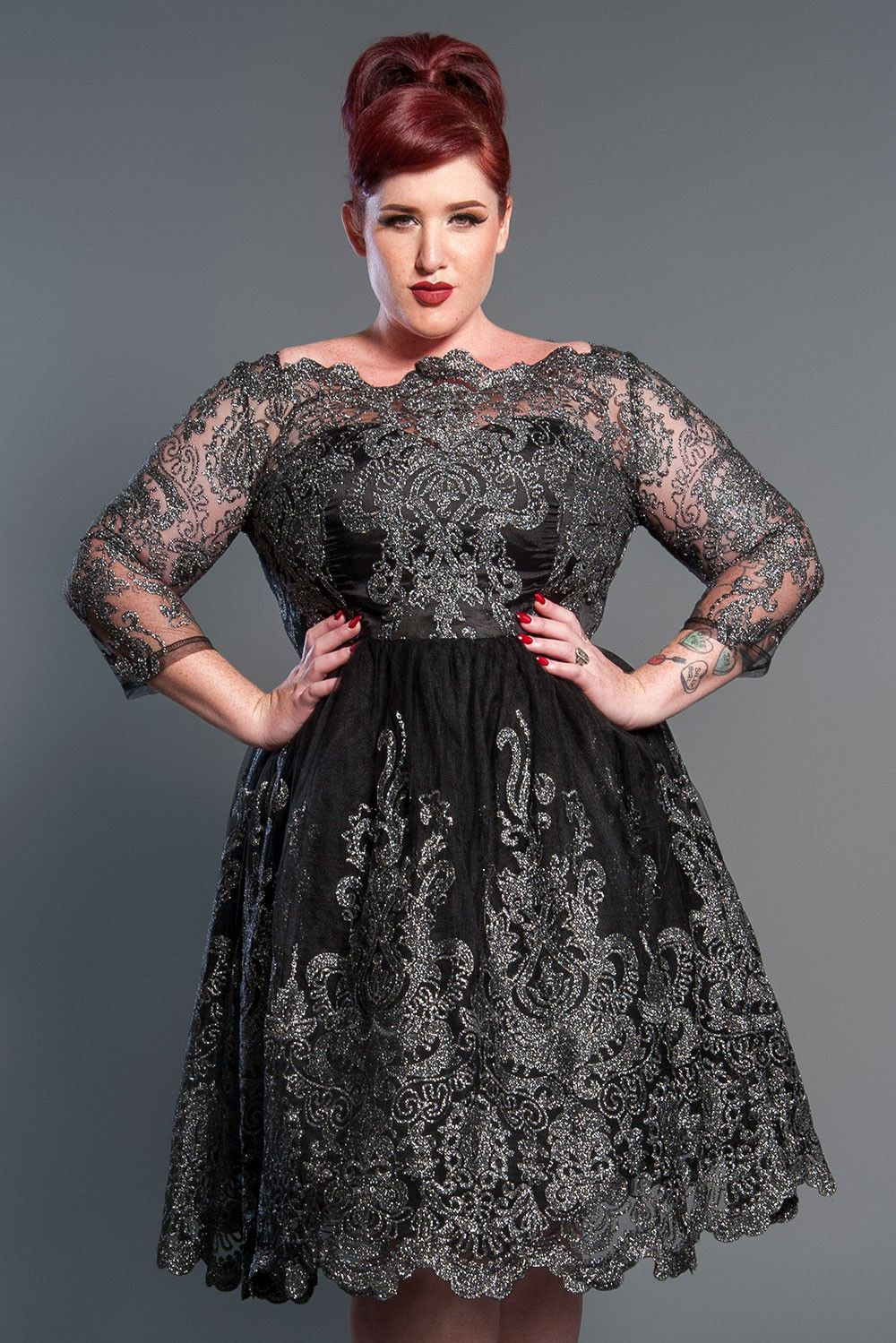 Httpspinupgirlclothingplus size vintage inspired plus size lottie cocktail dress ombrellifo Gallery