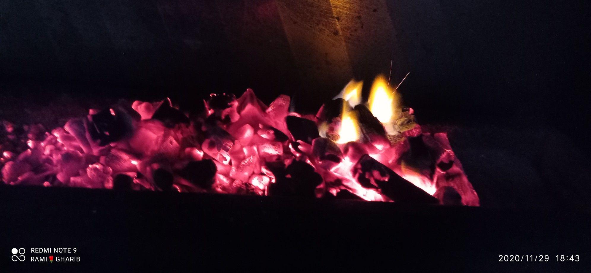 اجواء الشتاء فى غزة Decor Concert Fireplace