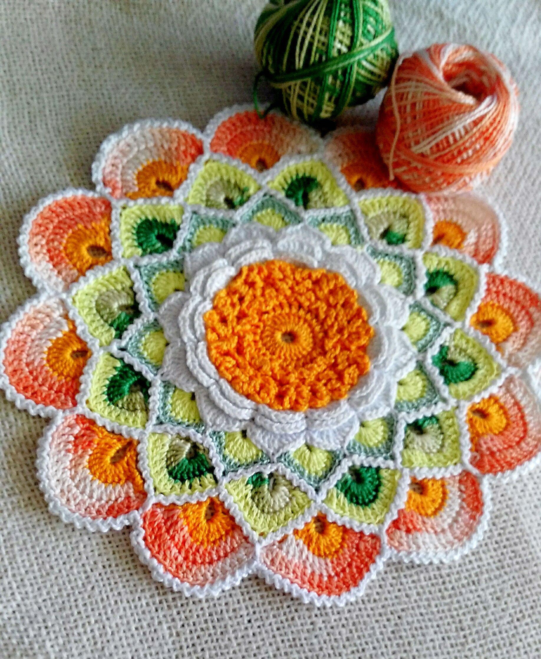 Mandalas a crochet para decorar en casa | Häkeln anleitung, Neid und ...