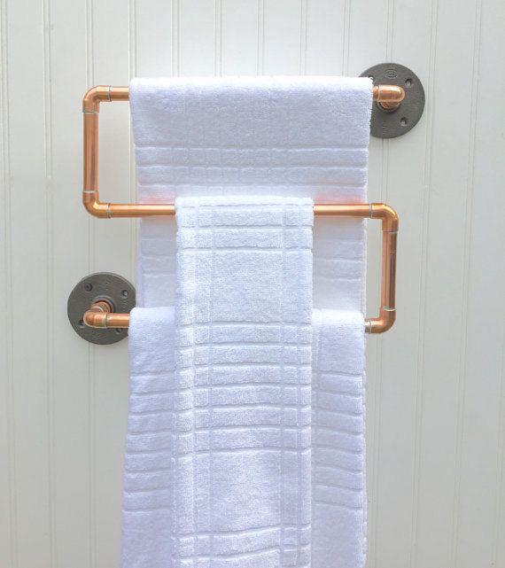 Bathroom Accessories Towel Rail copper pipe towel rack, industrial towel bar, modern industrial