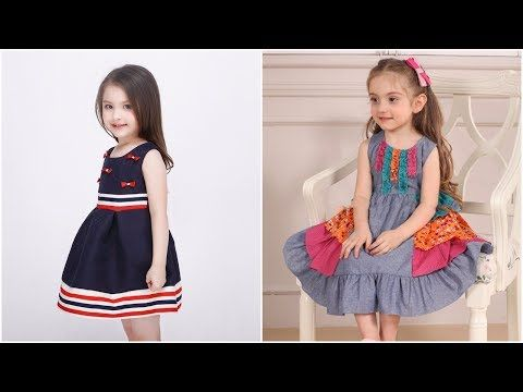 Classic simple cotton frocks designs for kids